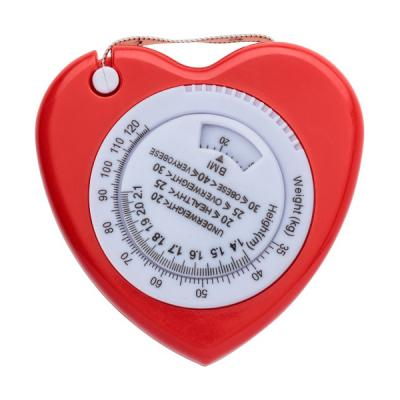 Image of Plastic, 1.5m, heart shaped, BMI tape measure